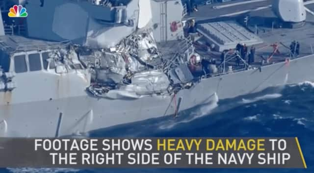 A Connecticut sailor was killed in the collision of the USS Fitzgerald with a cargo ship off the coast of Japan.