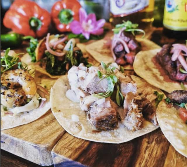 Expect tacos, margaritas and more at the Connecticut Taco Festival. Here, tacos from Mezon Tapas Bar & Restaurant in Danbury.