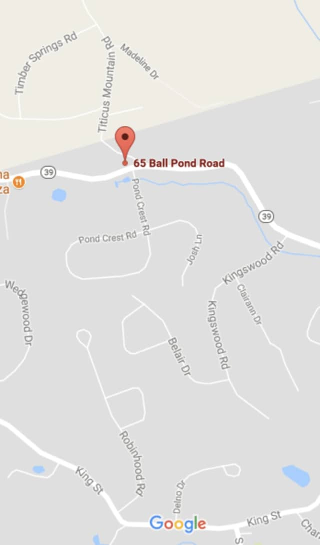 The accident happened near 65 Ball Pond Road in Danbury near the New Fairfield border.