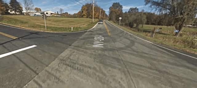 A New Jersey teen died after colliding with a dump truck at this Wawayanda, N.Y. intersection Wednesday.
