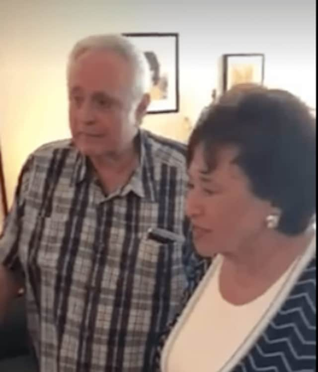 Rep. Nita Lowey with local disabled veteran Jerry Spiegelman, who's a Meals on Wheels recipient.