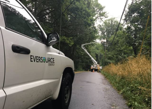 Eversource is reporting power outages across the state during a nor'easter on Sunday evening.