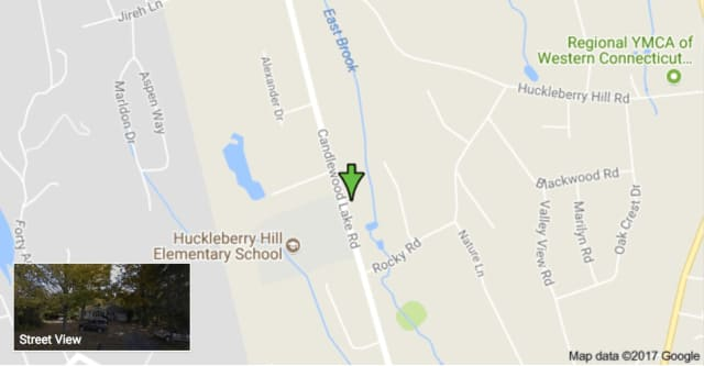 The crash occurred on Candlewood Lake Road in Brookfield near Huckleberry Hill Elementary School.