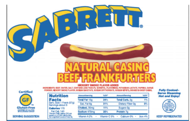 Sabrett products are being recalled.