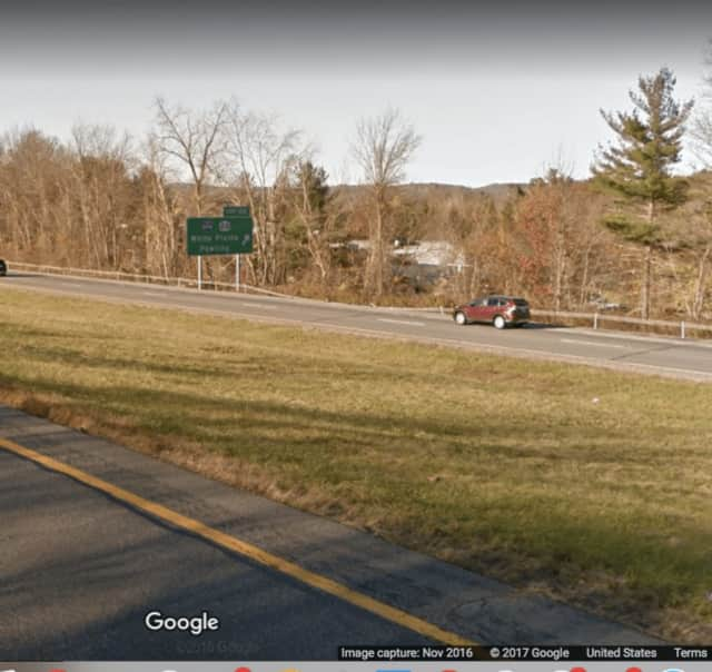 Westbound I-84 near Exit 20 (I-684).