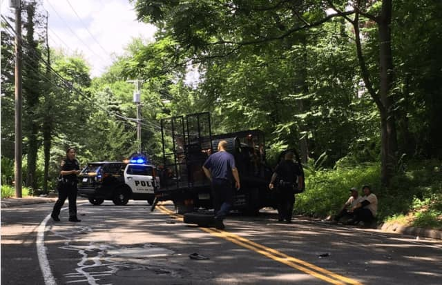 Norwalk police are on the scene of a crash Tuesday afternoon on West Rocks Road.