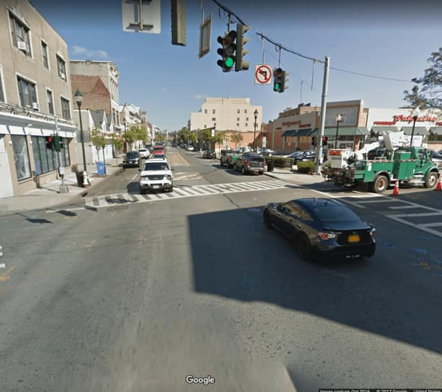The intersection of North Main Street and Adee Street in Port Chester.