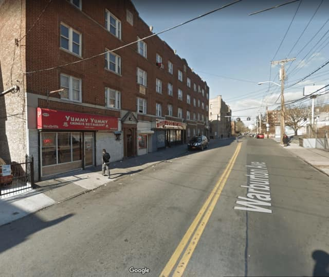 Gunshots rang out at 369 Warburton Avenue in Yonkers Tuesday night.