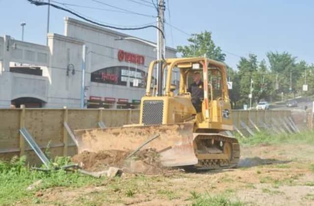 DPW crews working on Memorial Field in Mount Vernon.