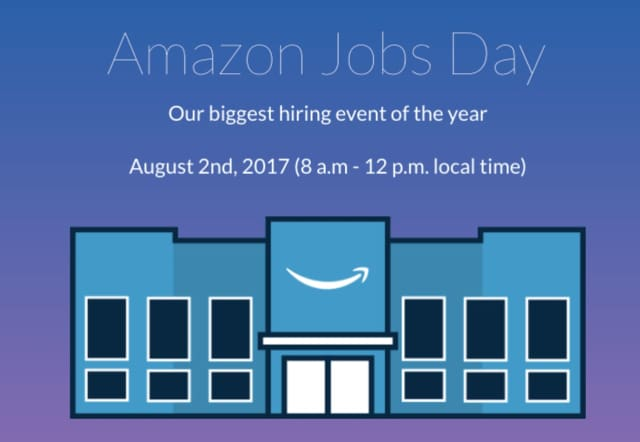 Amazon will hire 50,000 new employees Wednesday.