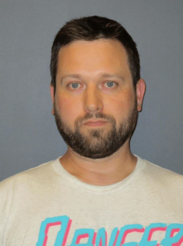 Thomas Lackner, 32, was arrested on drug charges in Rochelle Park.