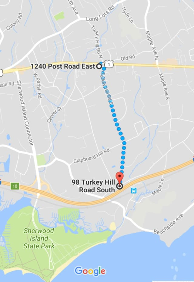 Turkey Hill Road South is blocked by a fallen tree Friday morning, police said.