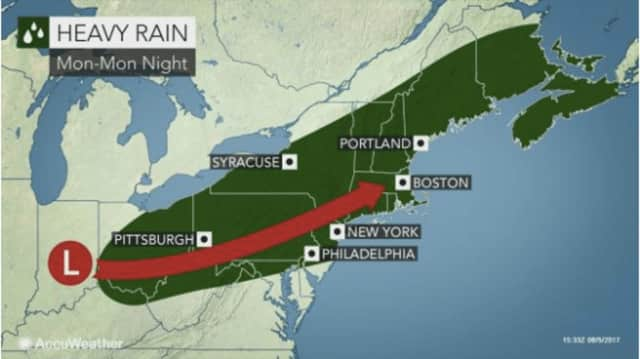 A look at the system that will bring heavy rain to the region.