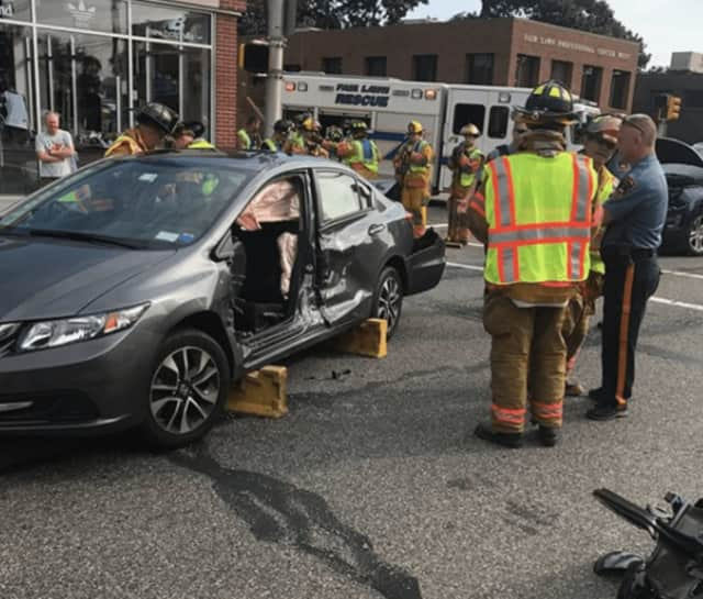 Fair Lawn Rescue Squad extricated one driver in a Sunday morning crash.