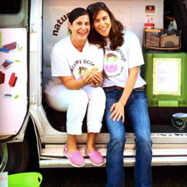 Carin Crook, right, and Kirstin Cerulli, left, owners of The Natural Scoop.