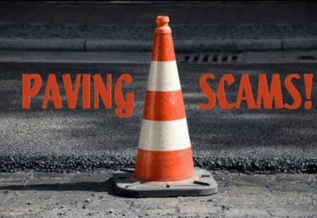 Police in Irvington have cautioned of a paving scam.