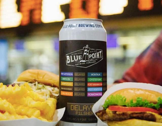 #DRINKTHEDELAY ... Blue Point Brewery has something you can drink while you're waiting for a train.