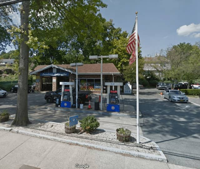 The Gulf station on Boston Post Road in Mamaroneck.