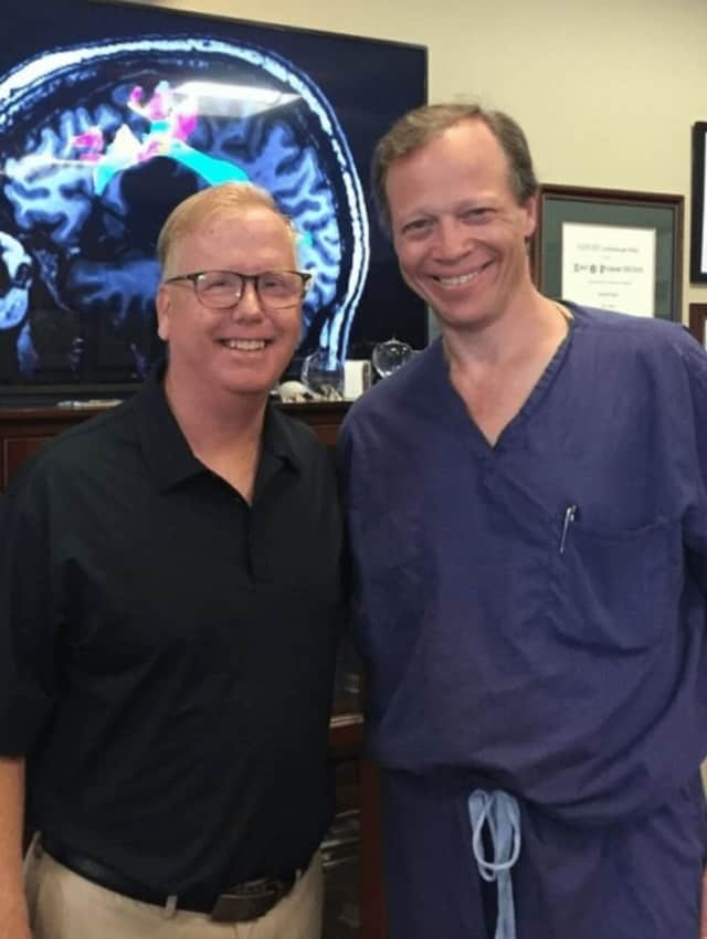 Danbury Mayor Mark Boughton with the man who performed his brain surgery, Dr. Robert Friedlander at the the University of Pittsburgh Medical Center.