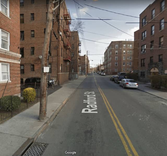 Radford Street in Yonkers where a 17-unit apartment building sold for $2.1 million.
