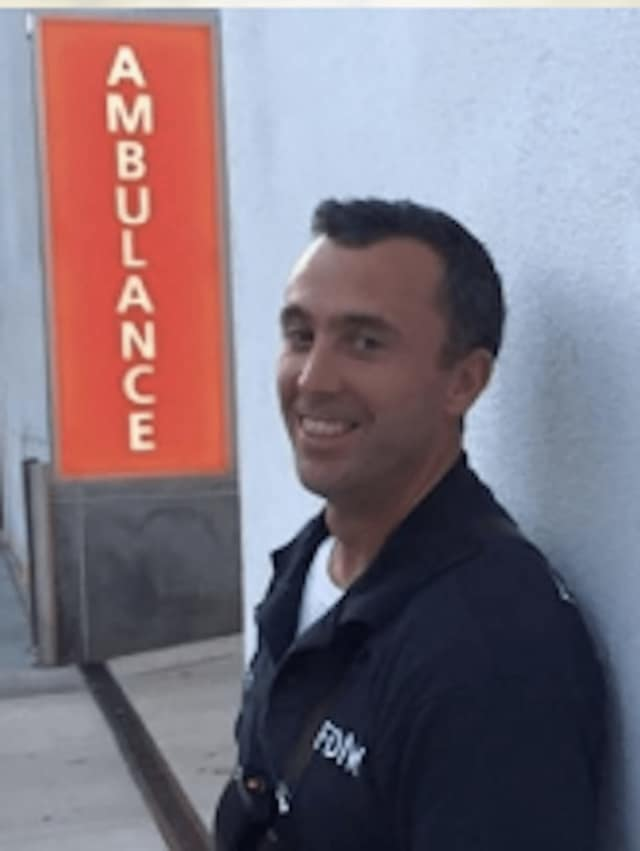 Somers HS grad Michael Sclafani, 39, a Larchmont resident and FDNY paramedic, received an award for his life-saving heroic efforts.