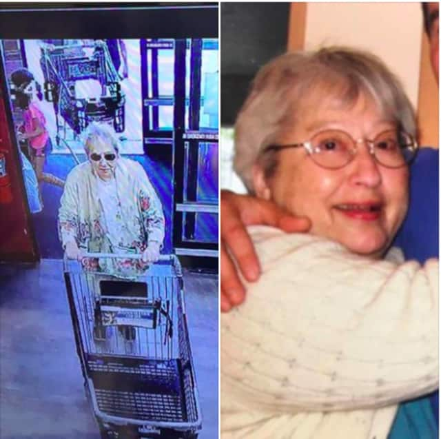 The woman, named Betty and pictured here, was dropped off at ShopRite In Airmont Tuesday morning by a friend and was going to be picked up later at the same location by the friend, Ramapo Police said.