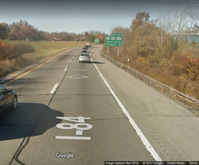 Eastbound I-84 near Exit 21.