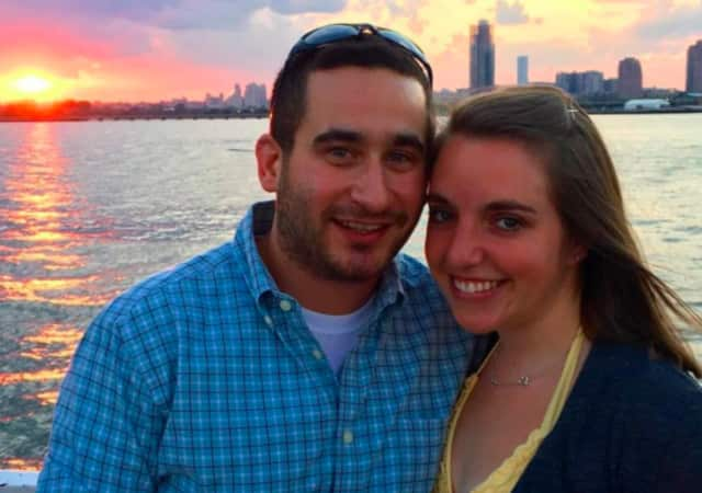 Tenafly EMT David Novick, left, and his wife, who has started a GoFundMe for his parents.