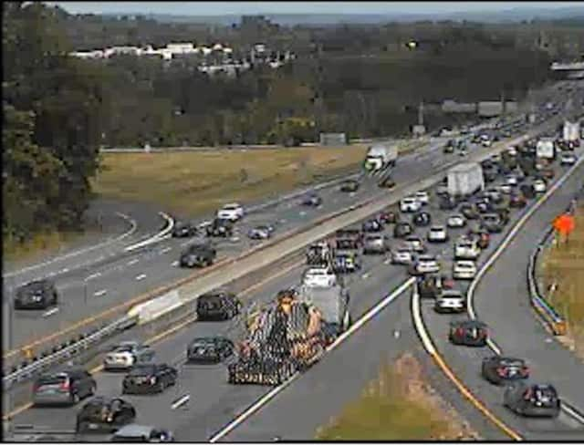 A look at I-87 near the Garden State Parkway around 2 p.m. Sunday.