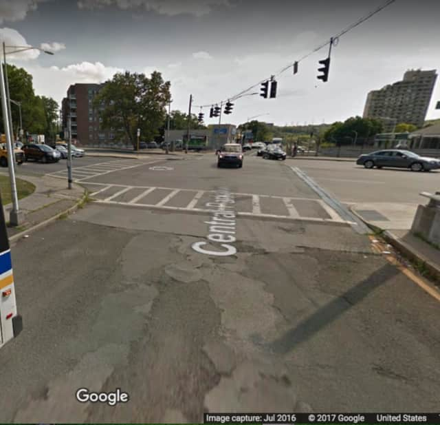 The intersection of Tuckahoe Road and Central Avenue in Yonkers.