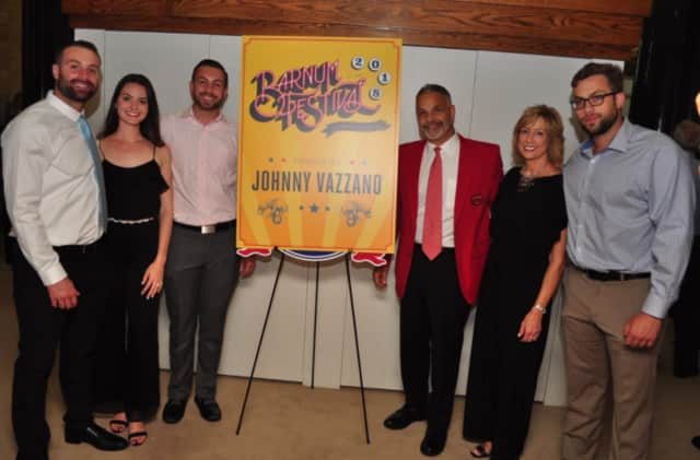 Restaurateur Johnny Vazzano, third from right, is the 2018 Barnum Festival ringmaster.
