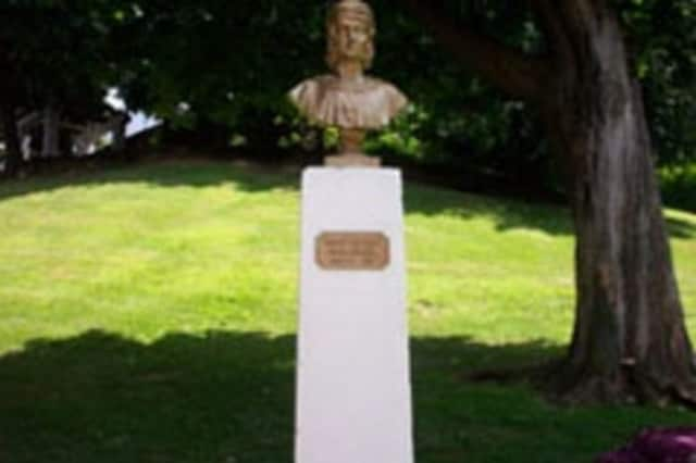 This statue of Christopher Columbus was damaged in Yonkers.
