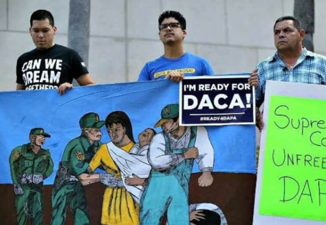 Protestors fight for DACA.