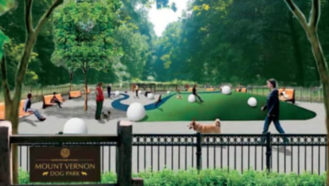 An artist's rendering of the proposed dog park in Mount Vernon.