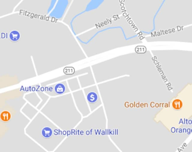 A major accident was reported on Route 211 in Wallkill