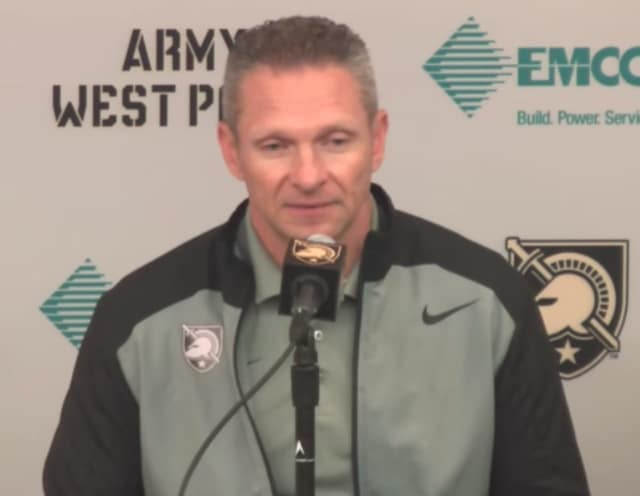 Army football Head Coach Jeff Monken discusses his team's matchup against Ohio State on Saturday.