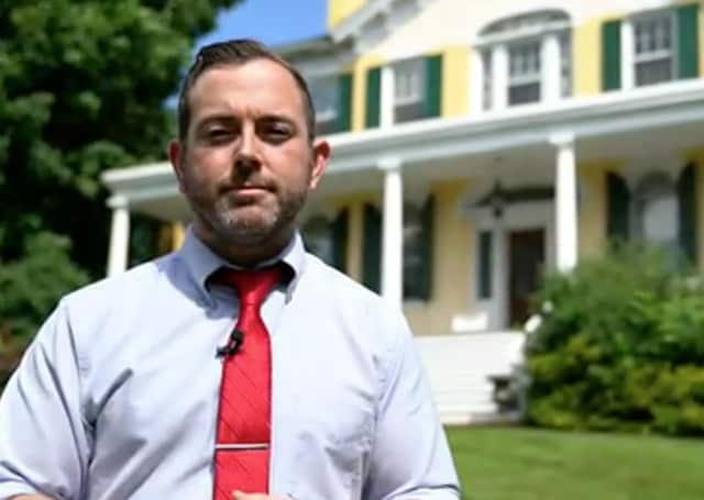 Mayor Kyle Roddey in Goshen's latest tourism video.
