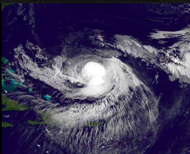 A satellite image of Jose, one of the 10 hurricanes during the 2017 season,