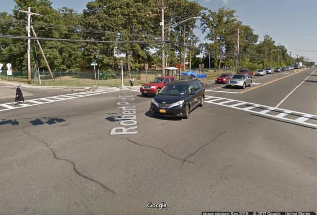 A pedestrian was hit by a vehicle while crossing Route 59 in Monsey.