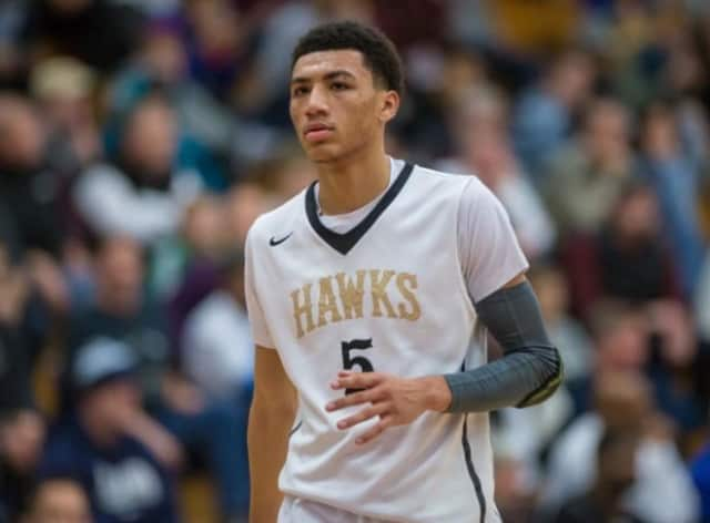 Jahvon Quinerly of Hackenasck, Hudson Catholic Point Guard.