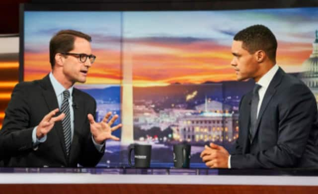 "U.S. Rep. Jim Himes appears on ""The Daily Show With Trevor Noah"" to talk about gun control and why he boycotted a recent moment of silence."