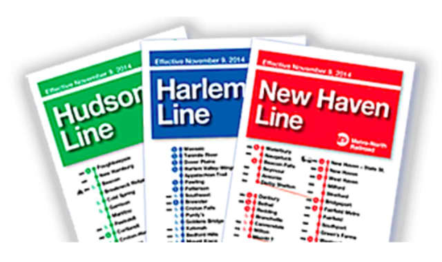 Do you still use a Metro-North timetable? New train schedules take effect on Sunday.