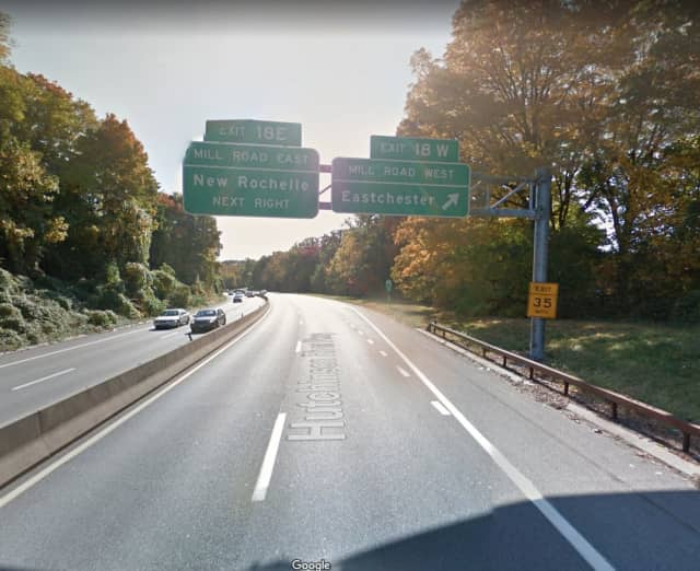 Exit 18 (Mill Road) will be closed on Wednesday and Thursday on the Hutchinson River Parkway in New Rochelle.