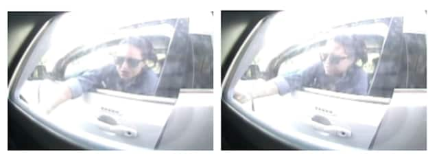 A female suspect in a white Jeep Grand Cherokee (shown in photos above) cashed a forged check at a bank branch in Fishkill.