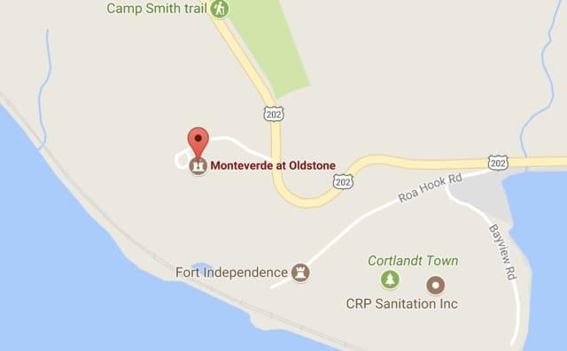 A three-car crash has closed Route 202 (Bear Mountain Bridge Road) in Cortlandt.