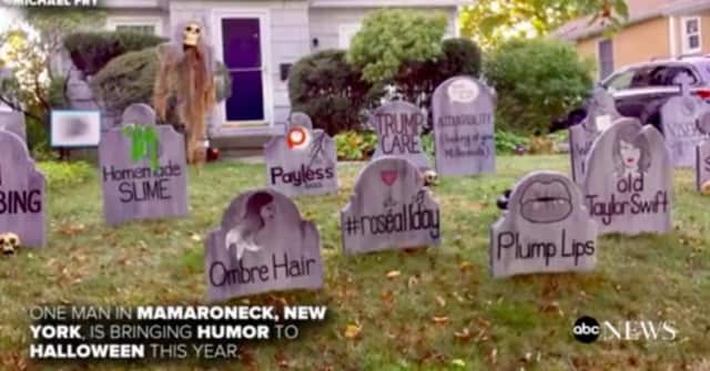 "Mamaroneck resident Michael Fry's ""2017 Dying Trends graveyard"" was featured on ABC News,  sparking a stir on social media."