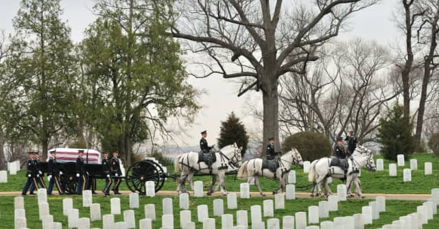 A New Rochelle Marine who served in World War II is set to be reinterred at Arlington National Cemetery.