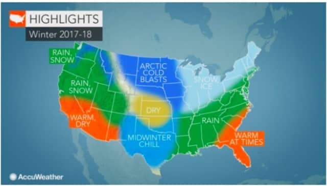 A look at the weather pattern for the winter as projected by AccuWeather.com.
