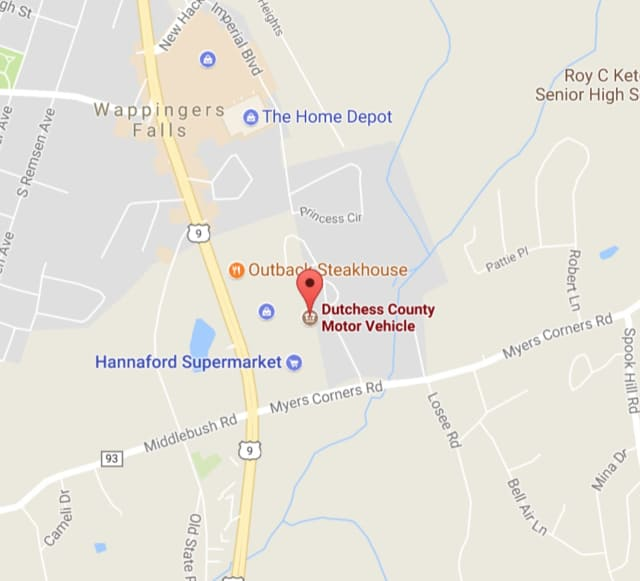 The Dutchess County DMV in Wappingers Falls is closed temporarily due to a power outage.