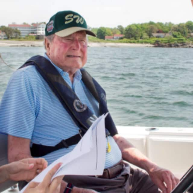 George H.W. Bush on his 93rd birthday on June 12.
